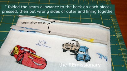 seam allowances