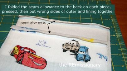 seam allowances