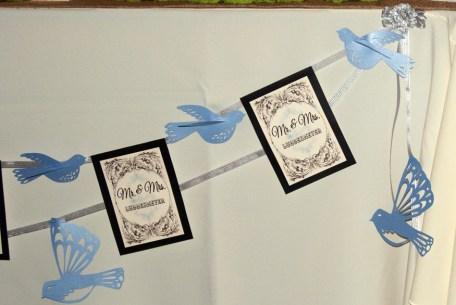 birds handmade by bride