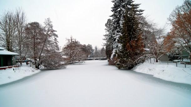 Mill Creek - snowed in