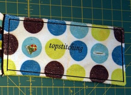 example of topstitching