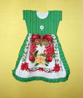 I had a couple of 'ho ho ho' fabrics, so I thought I'd make Christmas towels. Seemed to be a good idea at the time.