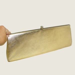 60s gold clutch-the Remix Vintage Fashion