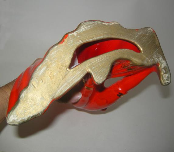 matador red gold mid century ceramic home decor-remix vintage fashionmatador red gold mid century ceramic home decor-remix vintage fashion