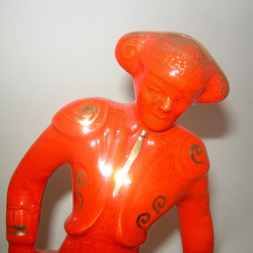 matador red gold mid century ceramic home decor-remix vintage fashion