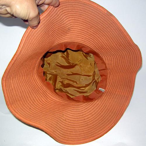60s floppy hat orange velvet mod style-the remix vintage fashion