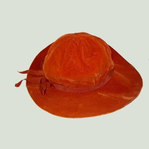 60s floppy hat orange velvet mod style-the remix vintage fashion