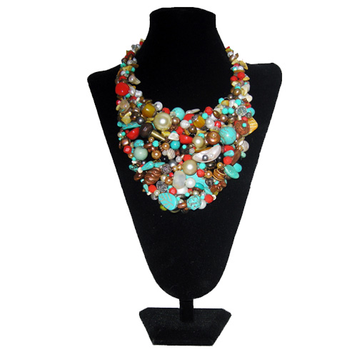 upcycle designs turquoise bib set-the remix vintage fashion