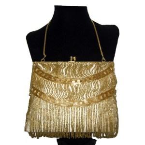 walborg gold 80s purse-the remix vintage fashion