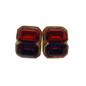 mary frost clip earrings orange fuschia-the remix vintage fashion