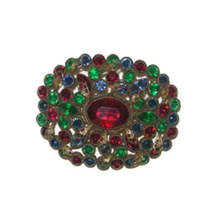 large rhinestone brooch-the remix vintage fashion