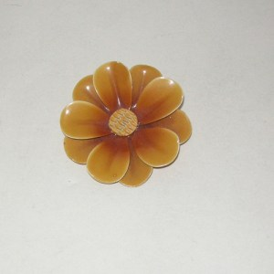 Flower pin brooch yellow-the remix vintage fashion