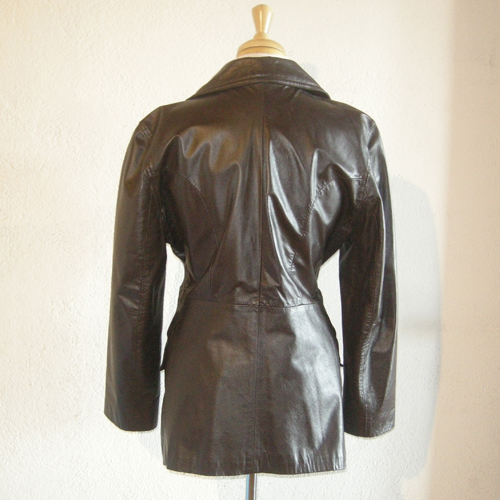 leather car coat argentia 70s-the remix vintage fashion