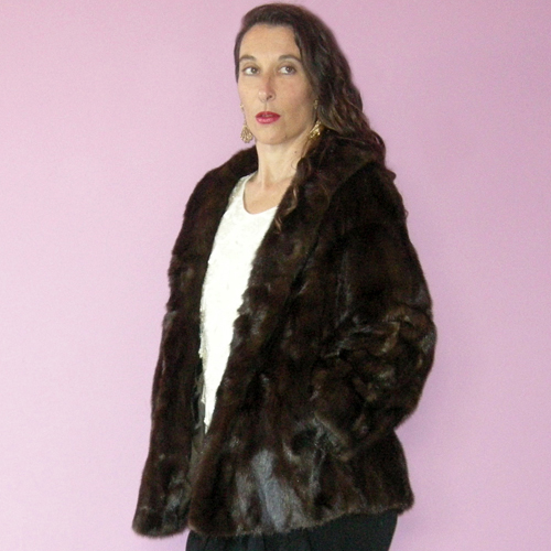 mahogany mink jacket 60s Garfinkels-the remix vintage fashion