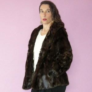 mahogany mink jacket 60s Garfinkels-the remix vintage fashion