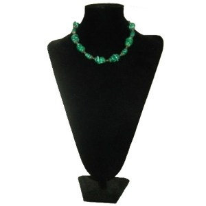 venetian murano glass necklace choker green swirls-the remix vintage fashion