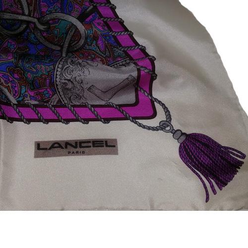 lancel scarf paris silk-the remix vintage fashion