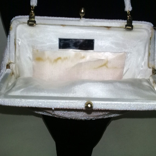 beaded clutch purse white hong kong 50s 60s-the remix vintage fashion