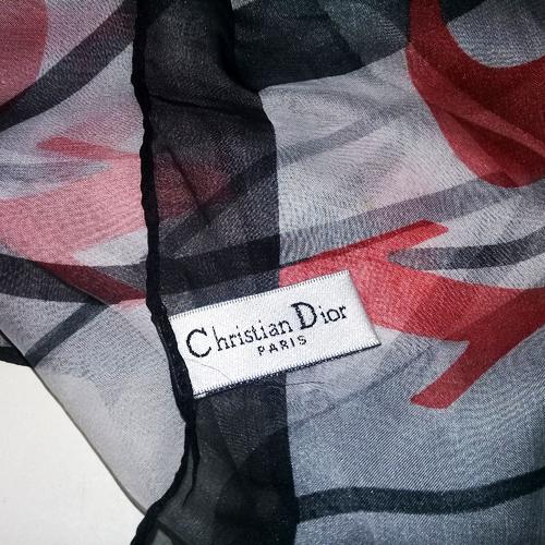 christian dior scarf silk signature shawl wrap-the remix vintage fashion