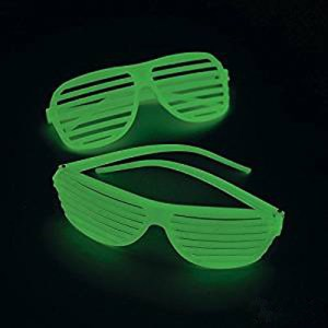 plastic shutter glasses glow-in-the-dark 80s devo style-the remix vintage fashion