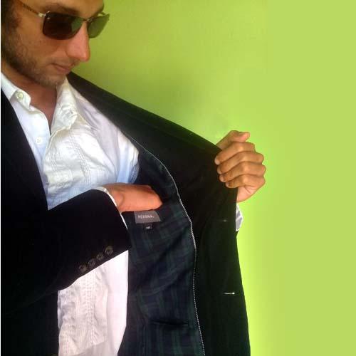 black velvet sport coat jacket-the remix vintage fashion