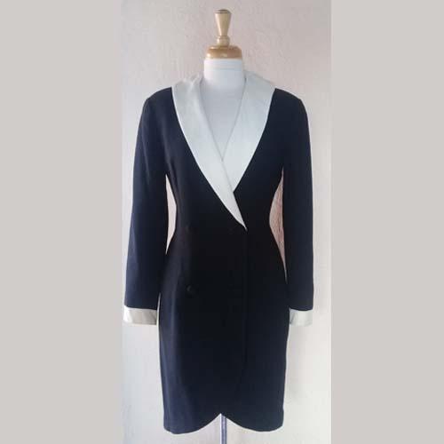 80s tuxedo dress kenar-the remix vintage fashion