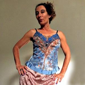 cami top blue copper artisanal fashion-the remix vintage fashion
