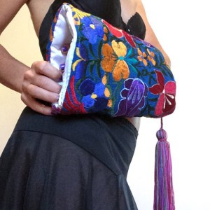 muff vintage inspired mexican embroidery blue-the remix vintage fashion
