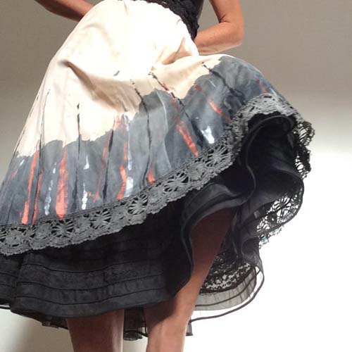 circle skirt sustainable fashion-the remix vintage fashion
