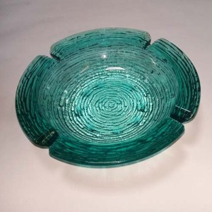 70s glass ashtray soreno blue anchor hocking-the remix vintage fashion