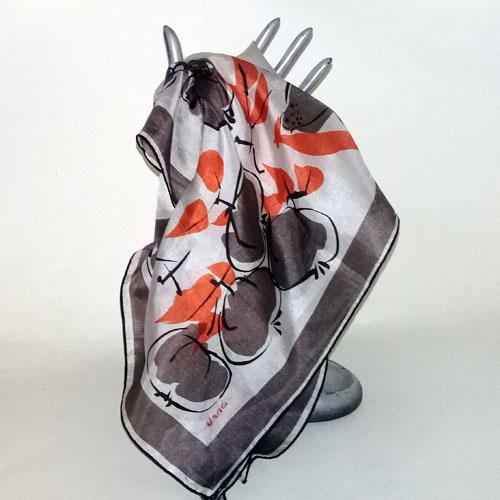 vera scarf silk autumn leaves-the remix vintage fashion