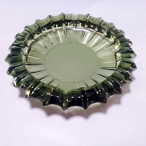 70s Nesting ashtrays glass green-the remix vintage fashion