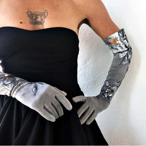 long formal elbow gloves-the remix vintage fashion