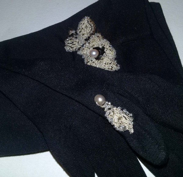 vintage ladies day gloves black-the remix vintage fashion