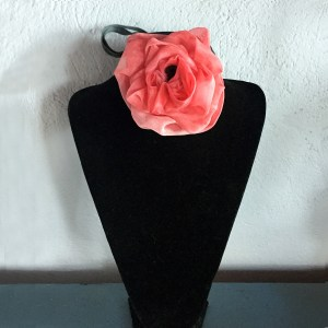 pink flower choker-the remix vintage fashion