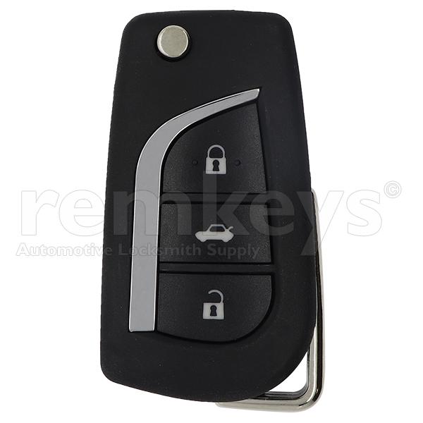 Toyota 3Btn Flip Remote Case - CR2032 Battery - VA2