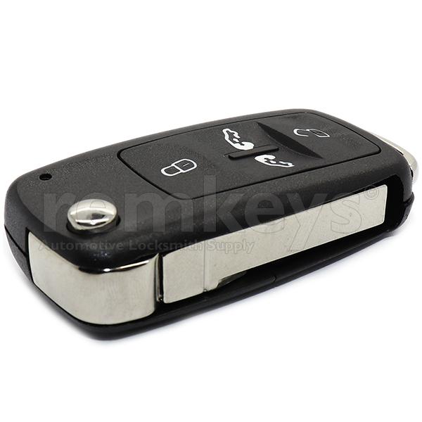 VAG Crafter 4 Button Flip Remote Case