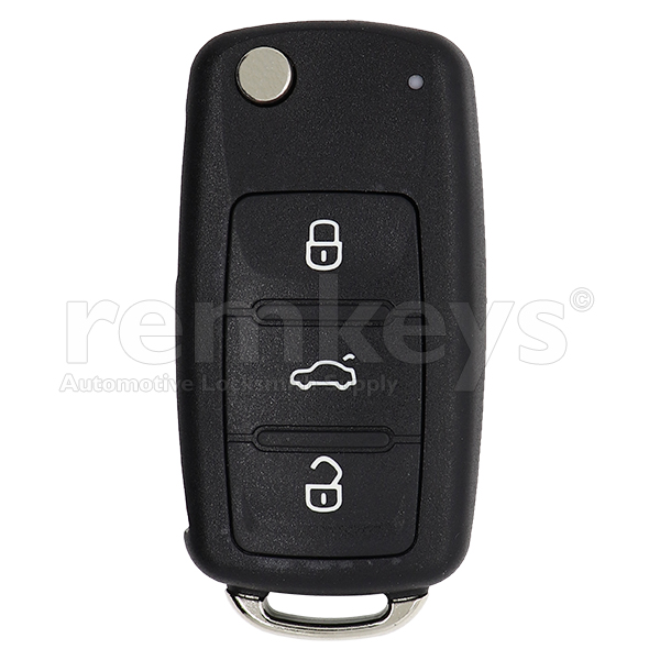 VW 3Btn Flip Megamos AES 433mhz OEM 5K0837202BH / 5K0837202DH