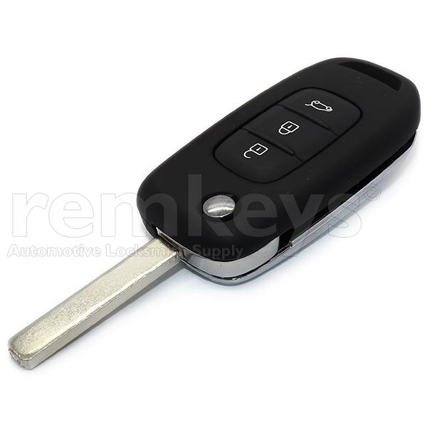 Megane4 3Btn Flip Remote Hitag Aes 433mhz Aftermarket