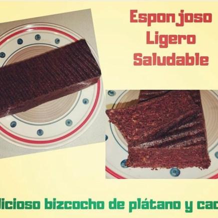 BIZCOCHO DE PLATANO Y CACAO