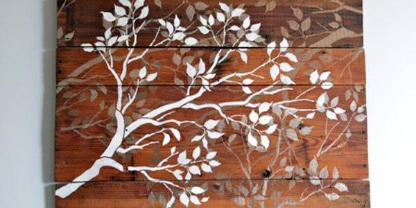 Stair Wall Art Remodelaholic | Diy Art Project: Branches Wall Art, Guest