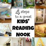 4 Steps To A Great Kids Reading Nook via Tipsaholic.com
