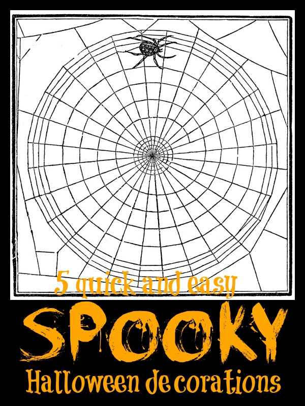 5 Quick and Easy Spooky Halloween Decorations via Tipsaholic.com #halloween #decor #easy #spooky