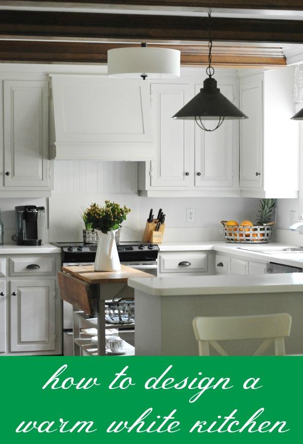 White Kitchen Looks Too Sterile