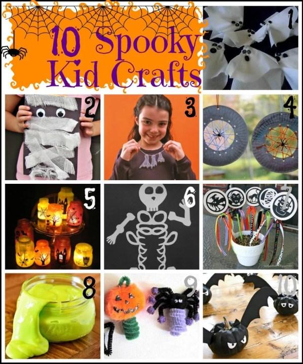 10 Spooky Kids Crafts for Halloween via Tipsaholic.com #Halloween #kids #crafts