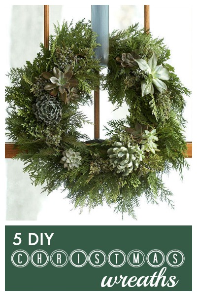 Put your own special touch on a Christmas Wreath this year. Check out these 5 creative Christmas wreaths you can make yourself via tipsaholic.com #wreaths #christmas #diy