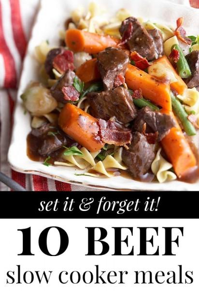 Beef Slow Cooker Meals via Tipsaholic