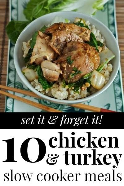 Chicken and Turkey Slow Cooker Recipes via Tipsaholic