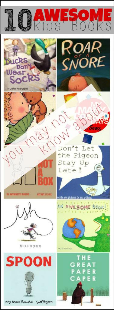 10 Awesome Kids Books (you might not know about) via Tipsaholic
