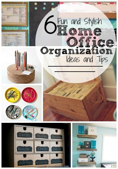 6 Fun and Stylish Home Office Organization Ideas and Tips   Tipsaholic.com #home #organization #office #storage #diy